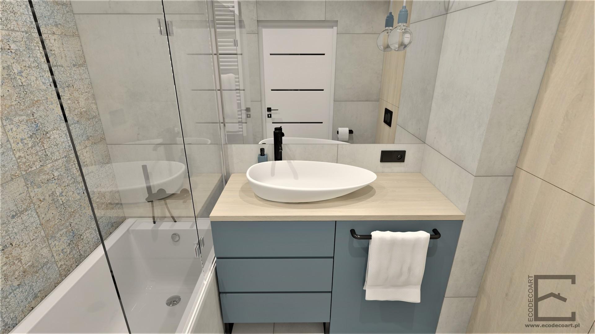 Mieszkanie w Lublinie – łazienka w dwóch wersjach