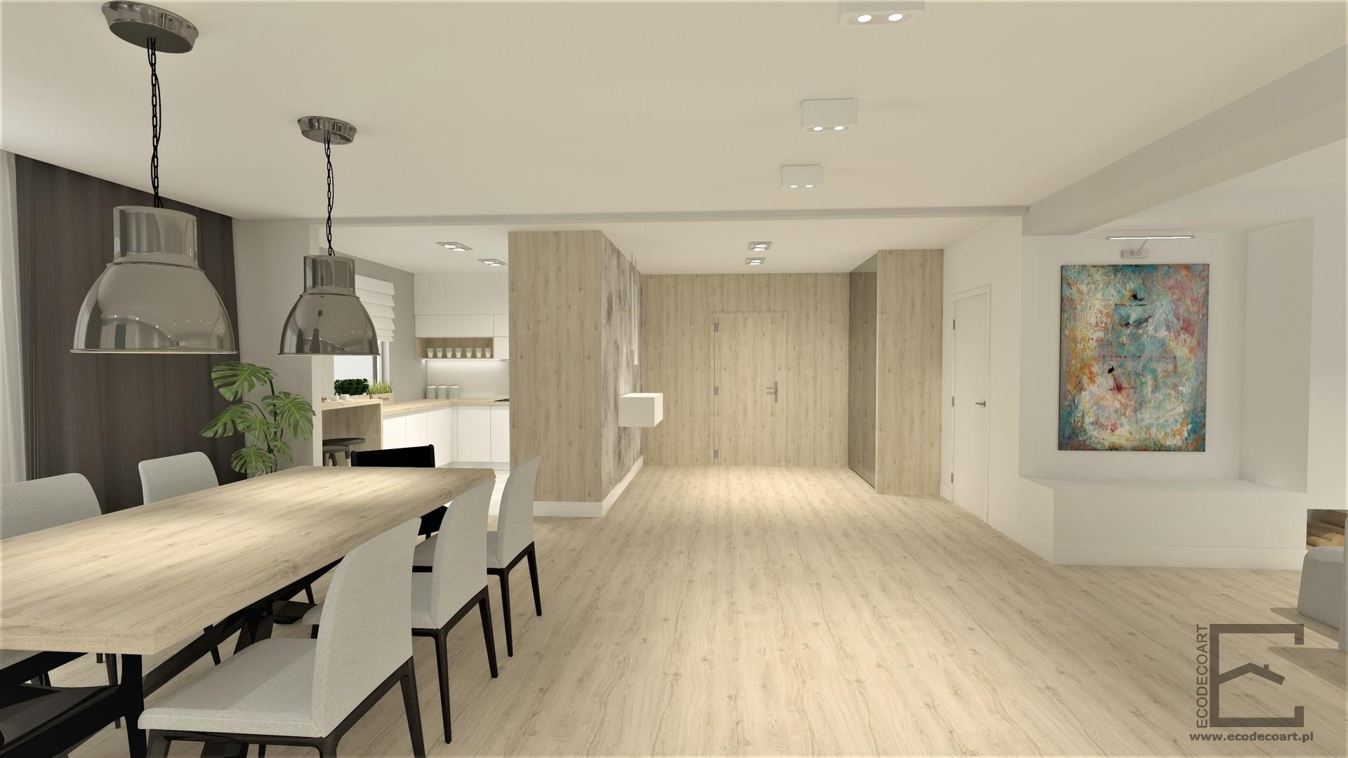 Mieszkanie w Lublinie – strefa dzienna z kuchnią
