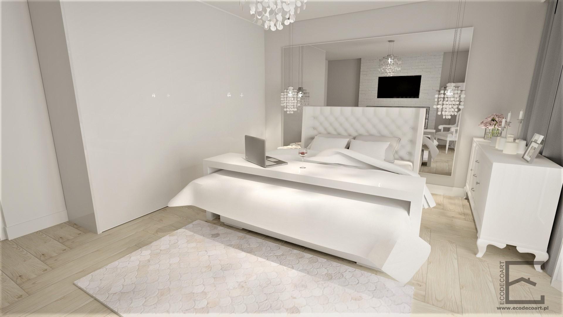 Sypialnia w stylu glamour w Rzeszowie