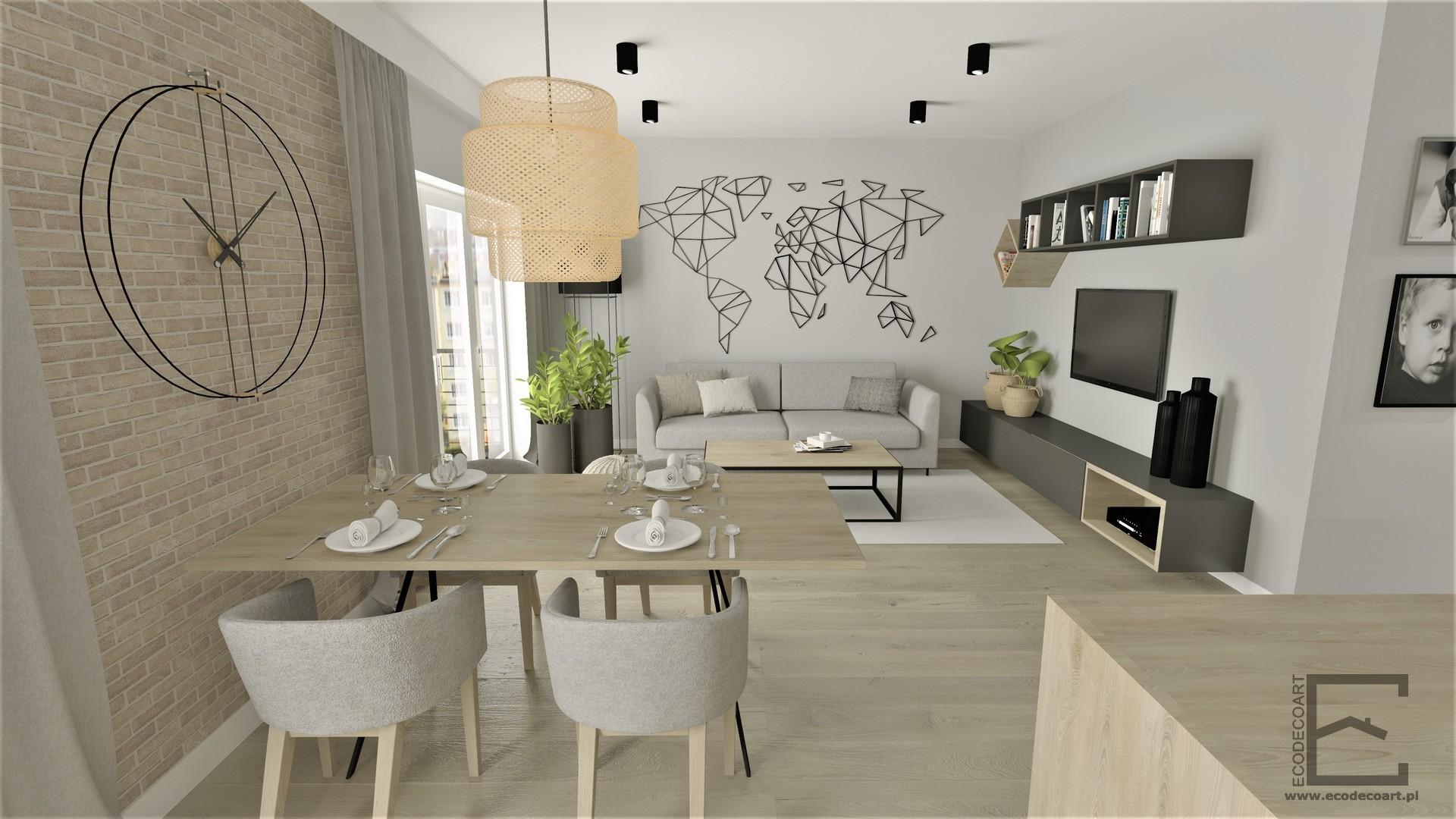 Mieszkanie w stylu skandynawskim w Rzeszowie